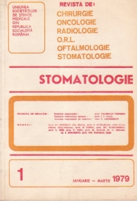 Stomatologia - Revista a Societatii de Stomatologie, Ianuarie-Martie 1979