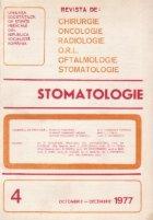 Stomatologia - Revista a societatii de stomatologie, Octombrie-Decembrie 1977