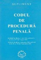 Supliment Codul de Procedura Penala