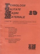 TCMM 19 - CNMU 96 (Conferinta nationala de masini-unelte)