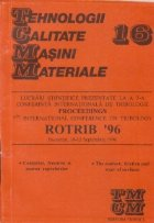TCMM 16 - Lucrari stiintifice prezentate la a 7-a Conferinta de tribologie Proceedings ROTRIB 96, Bucuresti 1996