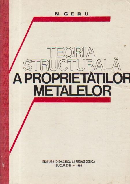 Teoria structurala a proprietatilor metalelor