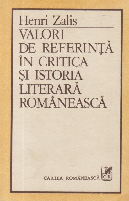 Valori de referinta in critica si istoria literara romaneasca
